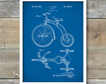 Patent Print, Tricycle Poster, Tricycle Patent, Tricycle Print, Tricycle Art, Tricycle Decor, Tricycle Wall Art, Tricycle Blueprint  P111