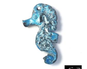 Seahorse PENDANT polymer clay. Seahorse charm.
