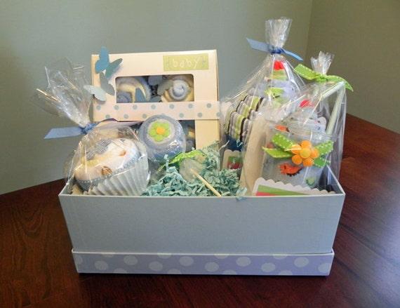 BabyBinkz Gift Basket Unique Baby Shower Gift Or Centerpiece