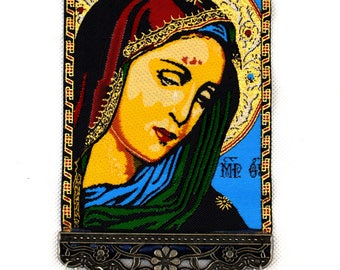 Handmade Mother Mary - Madonna Evil Eye – Nazar Alloy Wall Hanging