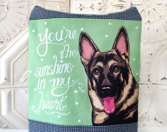 German Shepherd Art Tote Bag- You're The Sunshine In My Heart