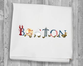 Flour Sack Towels for kitchen and bar - Boston