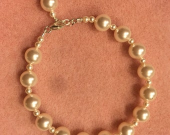 Pearl Single Strand Pearl Bracelet