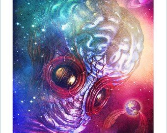 METALUNA MUTANT signed giclee print UNIVERSAL monsters