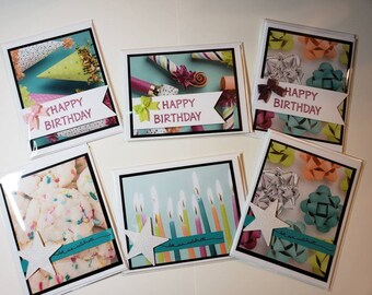 6 pack Birthday Cards | 2 designs