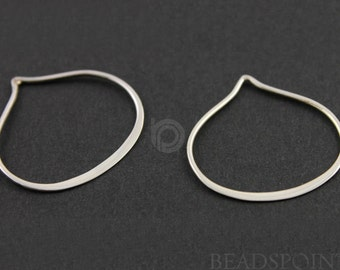 Sterling Silver, Tear Drop Component, Gorgeous Jewelry Component Finding, 1 Piece  (SS/692/20x20)