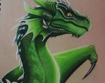 A4 Dragon Prints