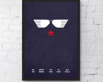 Top Gun Print / Poster Gift / Alternative Film Poster / Professionally Printed