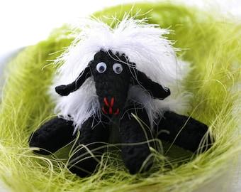 Handmade sheep, Hand knitted sheep, Crocheted wool sheep, Wool little stuffed animal, Home decoration