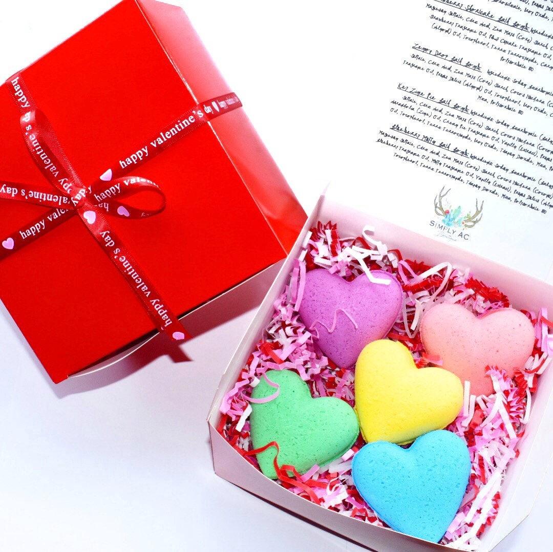 Valentine\'s Day Gift Set Bath Bombs Valentine\'s