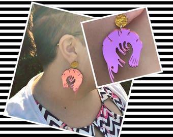 Delectable Decapoda Prawn Dangle Earrings