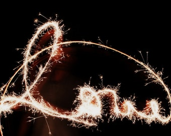 Love Photography - Sparkler Love Print - 8x12