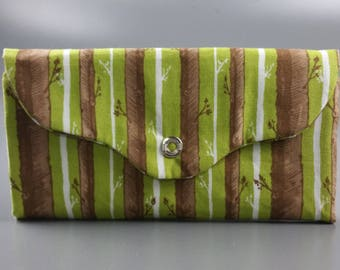 Trees & Forest Trifold Snap Wallet, with card clots, plenty of pockets, coin pouch
