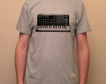 Vintage synthesizer, MS-20, KORG, retro, experimental, electronic - screen printed T-shirt