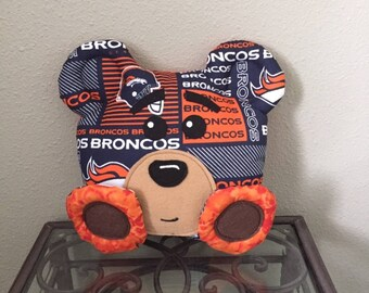 Denver Broncos Handmade Stuffed Bear
