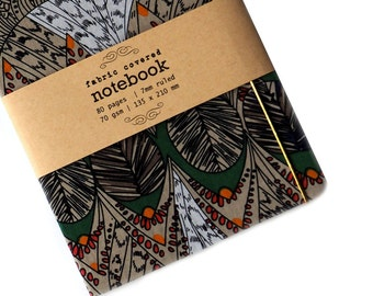 Tribal Fabric Covered Notebook