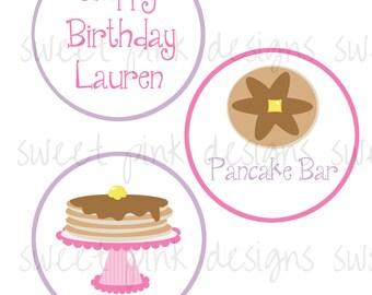 """Pink Pancake 4"""" Circles"""
