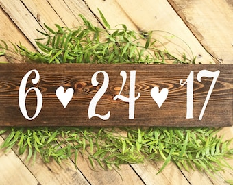 Save the Date Sign, Engagement Photoshoot Prop, Wedding Signs, Rustic Wedding Signs, Baby Due Date Sign, Anniversary Sign, Wood Signs, Boho