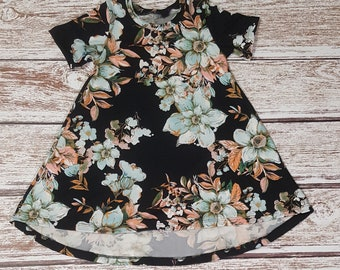 Girls' Floral T Shirt Dress