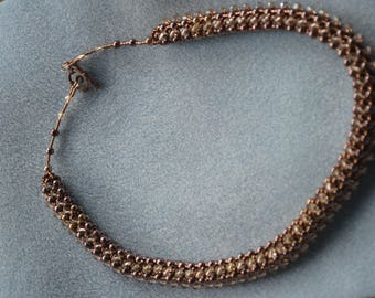 Brown necklaces and bracelet