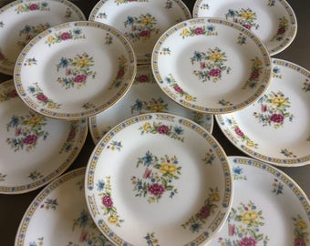 Liling Butterfly Salad Plates Yung Shen Fine China Vintage Lot Set 11 - #T0511