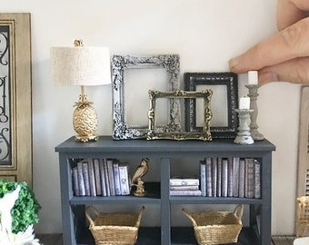 Miniature frames (set of three) - ornate picture frames - Dollhouse - Diorama - Roombox - 1:12 scale