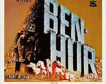 """Ben Hur Movie Poster 1959 """"The World's Most Honored Motion Picture"""" 24x36"""