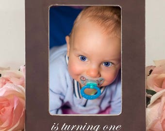 Baby Personalized Picture Frame Baby gift First Birthday New Baby Turning one i8