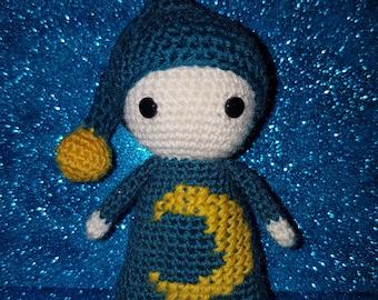 Crochet Sandman, Amigurumi Art Doll, Sand Man