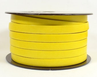 10mm Flat Leather - Yellow - Choose Your Length