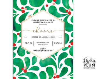 modern holiday party invitation christmas party invitation modern christmas invite printable holiday invitation