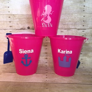 Personalized Beach Pail with Shovel ! Custom anything you want !