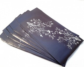 5 pouches gift black and white Elegance