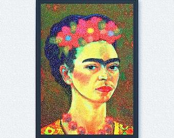 Frida Kahlo self portrait digital art print