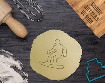 Snowboarder cookie cutter / Sport cookie cutter / Snowboarder fondant cutter