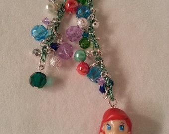 Little Mermaid Ariel cell phone charm, dust plug charm. Kawaii phone charm, iphone ,cell phone dust plug