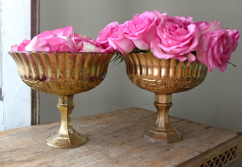 Beautiful ornate glass pedestal vases set distressed yellow zoom reviewsmspy