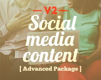 Version 2 social media content advanced package social media planner social media marketing digital marketing facebook twitter instagram
