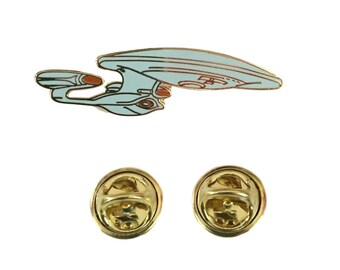 Star Trek TNG USS Enterprise NCC-1701-D Enamel Metal Cloisonne Pin Costume Accessory
