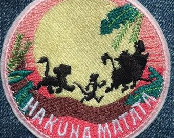 Hakuna Matata Iron On Lion Patch