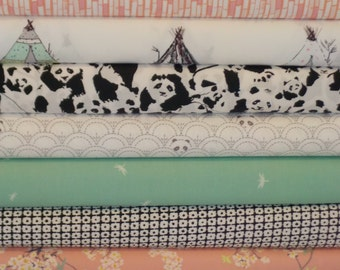 Pandalicious Pink Bundle From Art Gallery - 10 Fabrics - Choose Your Cut