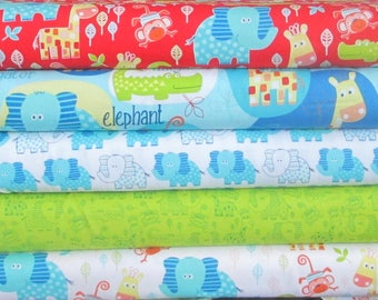 Swinging Safari Half Yard Fabric Bundle - Studio e