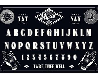 Mystic Ouija Board Occult Art Print - Dark Art Decor - Spirit Board - Obscure - Séance - Spiritual Gift - Oddities and Curiosities