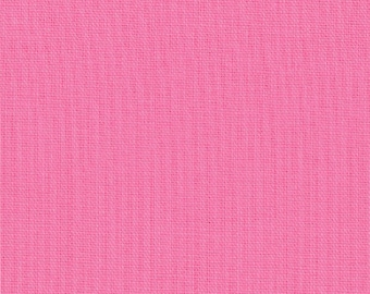 "Pink Solid Fabric - Bella Solids ""30's Pink"" by Moda 1 Yard"