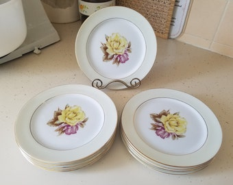 Vintage Narumi Yellow Rose 311B Bread and Butter Plate