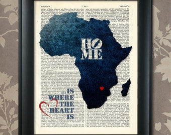 Africa Art Print, Africa Print, Africa Map Art, Africa Wall Art, Africa  Pride, Africa Map Print, Africa Map, Africa Decor, Map Of Africa