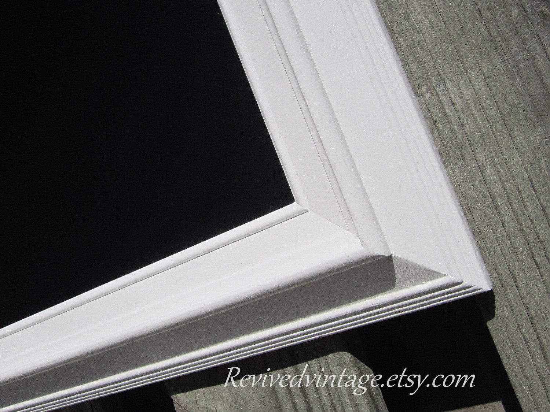 zoom - White Framed Chalkboard
