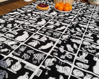 Picnic blanket black and white animals fishes Modern EXTRA LARGE blanket and Bag Beach blanket Summer Picnic blanket Outside blanket GIFT
