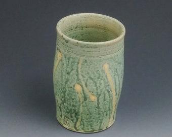 Ceramic Tumbler, Wood Ash Glaze, Wheel Thrown Stoneware # 14 A