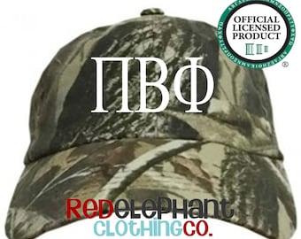 Pi Beta Phi Hat, Monogrammed Camo Hat, Monogram Baseball Cap, Monogram Camouflage Hat, Personalized Baseball Hat, Sorority Gift, ΠΒΦ Cap